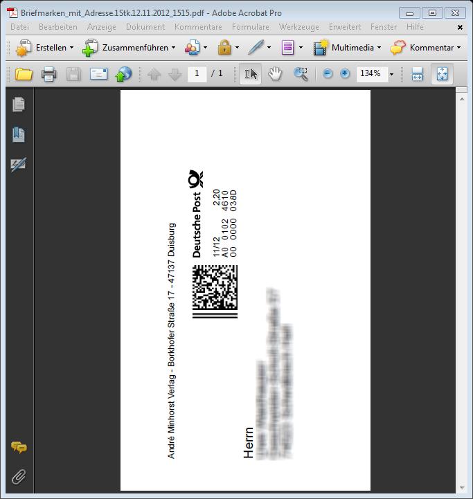 Internetmarke Mit Access Nutzen Startseite