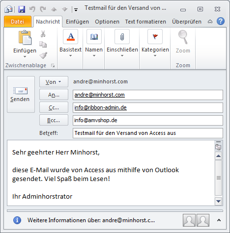angezeigter name bei outlook ändern