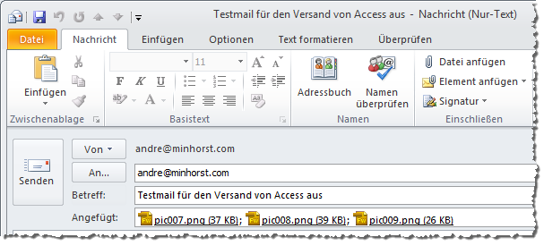 Mail mit Anhang